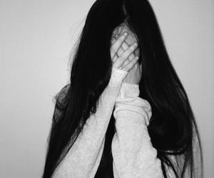 รูปภาพ b&w, beautiful, and long hair