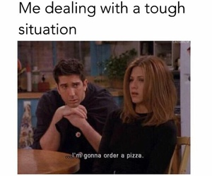 funny, pizza, and problem image