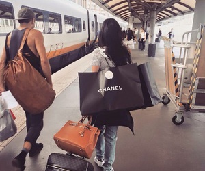 chanel, travel, and shopping image