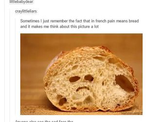 bread, funny, and pain image