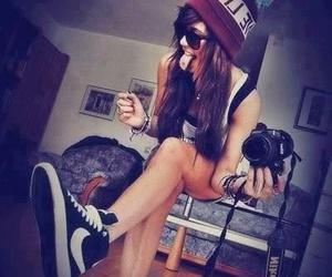 girl, swag, and nike image