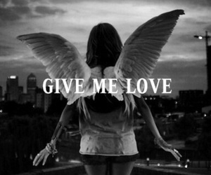 love, angel, and give me love image