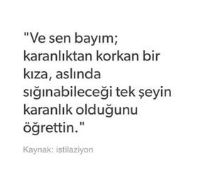 turkce, karanlık, and bayım image