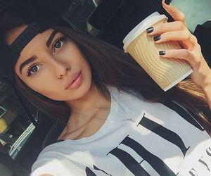 girl, black, and like image