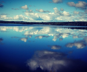 blue, clouds, and lake image