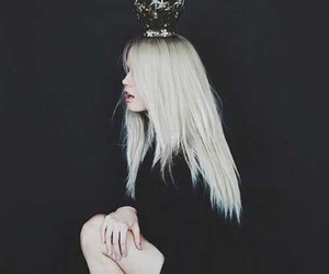 black, blond, and crown image