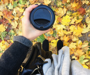 autumn, coffee, and outfit image