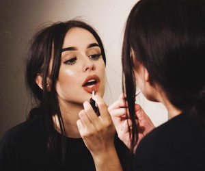girl, makeup, and lipstick image