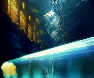 anime, underwater, and ocean image