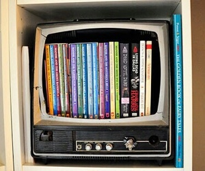 book, tv, and diy image