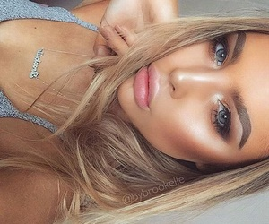 beautiful, beauty, and blonde hair image
