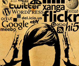 facebook, social media, and typography image