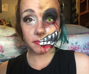scary, halloween makeup, and bailey image
