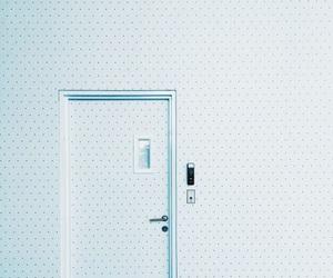 door, blue, and aesthetic image