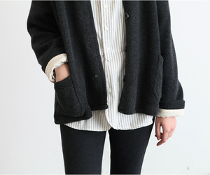 black, classic, and cozy image
