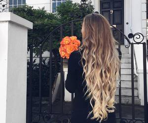blonde and long hair image