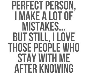 mistakes, not perfect, and love image
