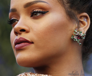 rihanna, make up, and model image