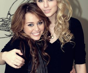 miley cyrus, Taylor Swift, and friends image