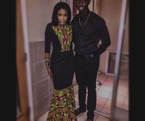 black man, fashion, and black woman image
