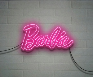barbie, neon, and pink image