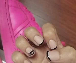adidas, nails, and cute image