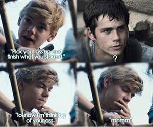 funny, thomas brodie sangster, and dylan o'brien image