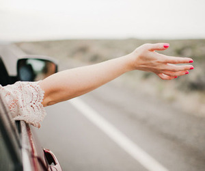 car, hand, and free image