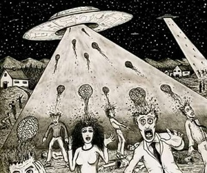 alien, psy, and Psycho image