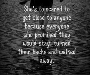 scared, quotes, and sad image