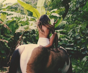 girl, horse, and nature image