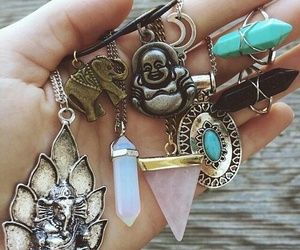 necklace, jewelry, and crystal image
