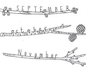 September, november, and october image