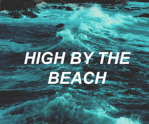 music, lana del rey, and high by the beach image