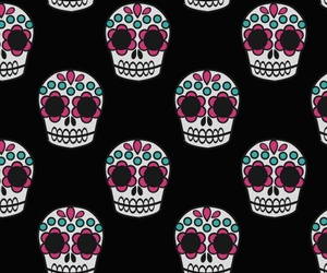 wallpaper, black, and skull image