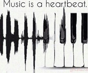 music, heartbeat, and quote image