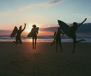 beach, friends, and summer image