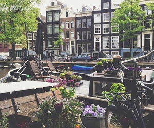 amsterdam, bicycle, and city image