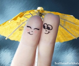 love, fingers, and umbrella image