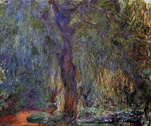 claude monet and weeping willow image