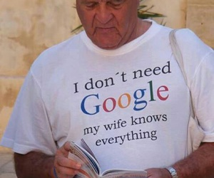 google, funny, and wife image