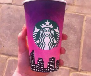 art, cup, and starbucks image