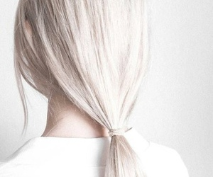 hair, white, and girl image