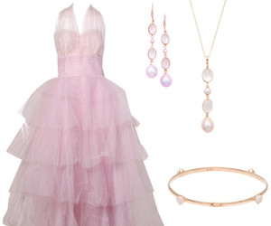 earrings, pearl, and Prom image