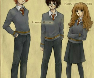 harry potter, ron weasley, and drawing image
