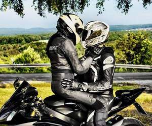 Motor, motorcycle, and love image