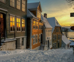 snow, house, and norway image