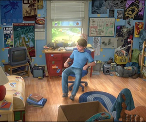 toy story and andy's bedroom image