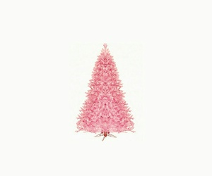 pink, christmas, and tree image
