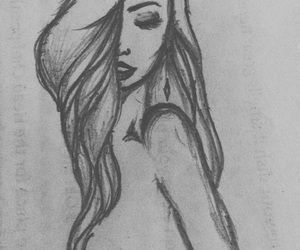 black, charcoal, and drawing image